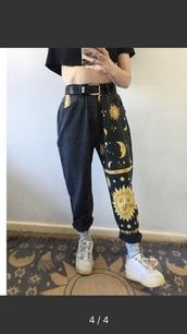 jeans,baggy jeans,sunshine,painted pants
