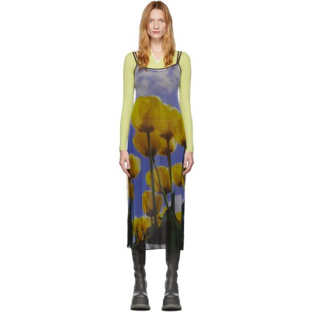 Sunnei Multicolor Tulip Double Dress in brown