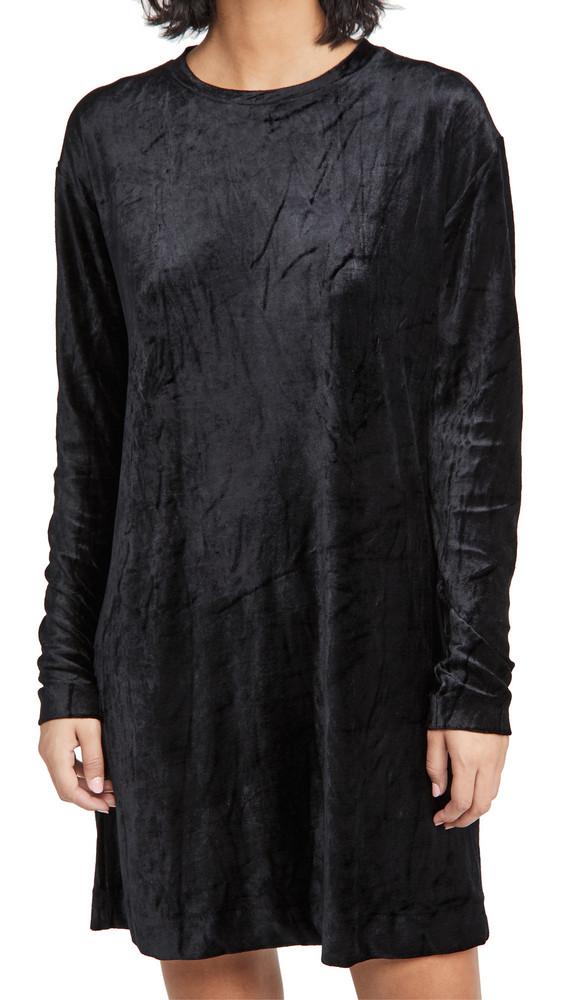 Ninety Percent Oversized Velour Dress in black