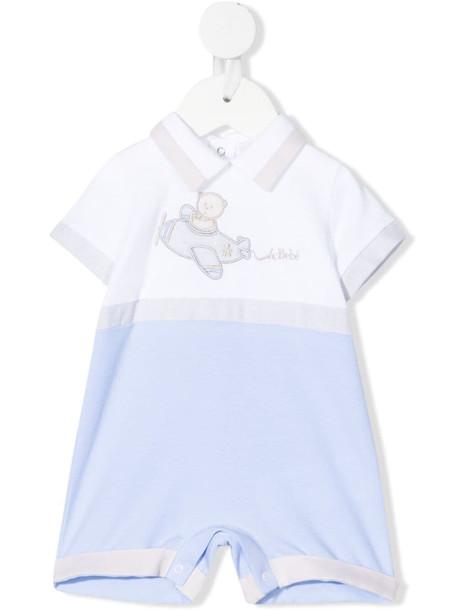 Le Bebé Enfant two-tone short-sleeved romper - White