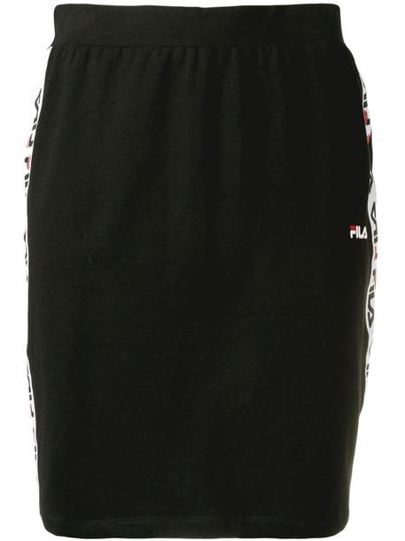 Fila logo stripe pencil skirt in black