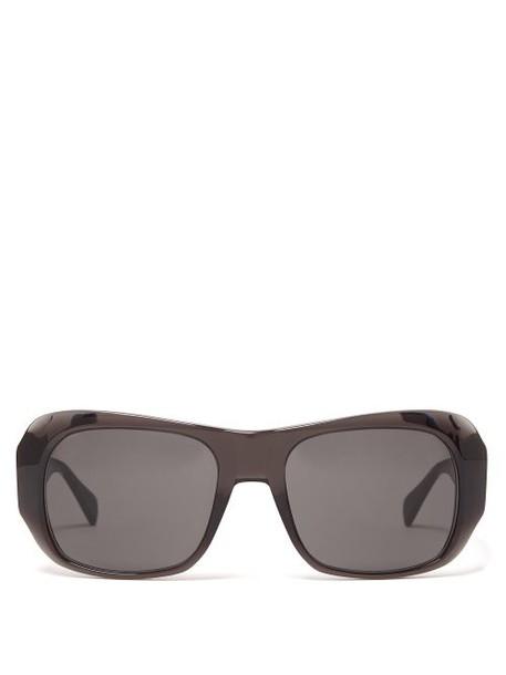 Celine Eyewear - Round Edge Acetate Sunglasses - Womens - Dark Grey