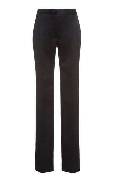 Carolina Herrera Double Bonded Satin Skinny Pants in black