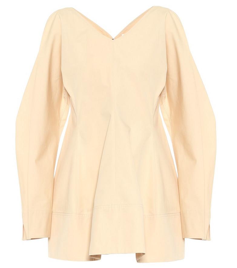 Jil Sander Cotton blouse in beige