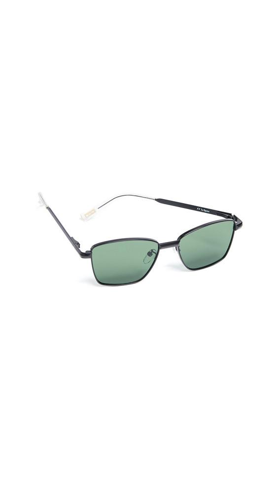 Le Specs Supastar Sunglasses in black / green