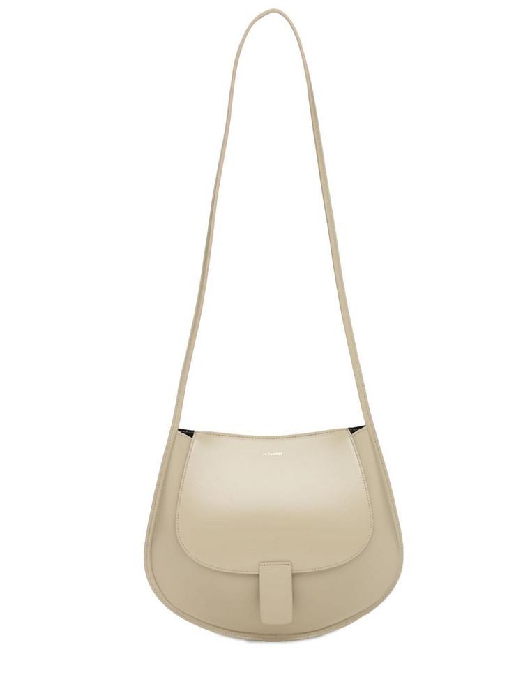 JIL SANDER Sm Crescent Leather Shoulder Bag