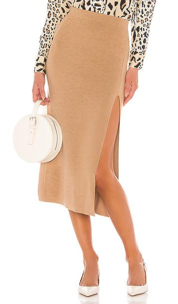 AMUR Jara Skirt in Brown