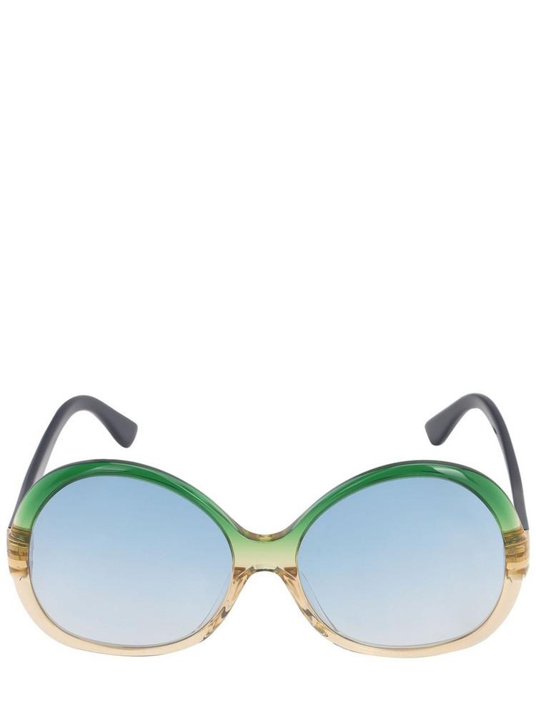 GEORGE KEBURIA Oversize Round Acetate Sunglasses