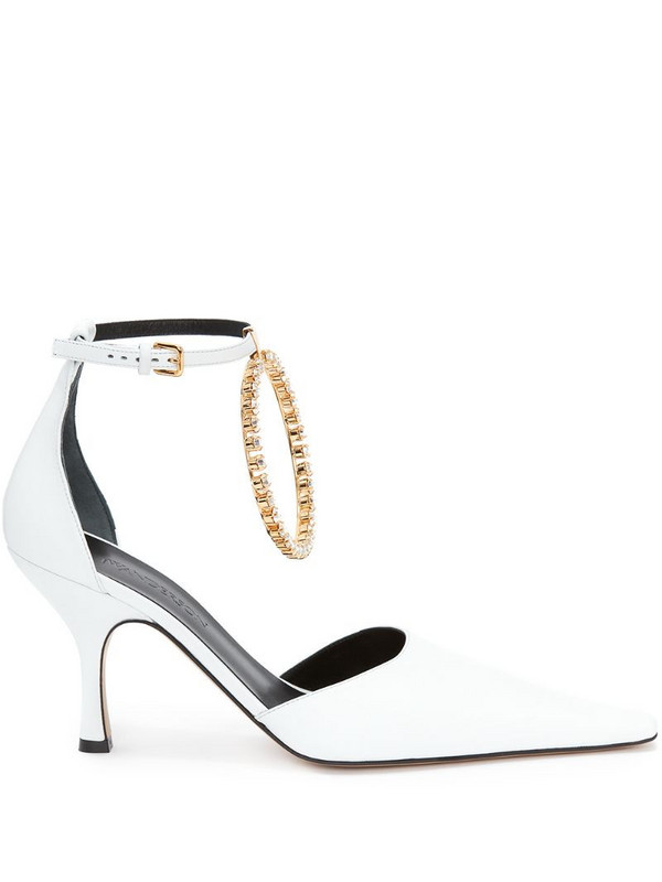 JW Anderson Ring 90mm pumps in white