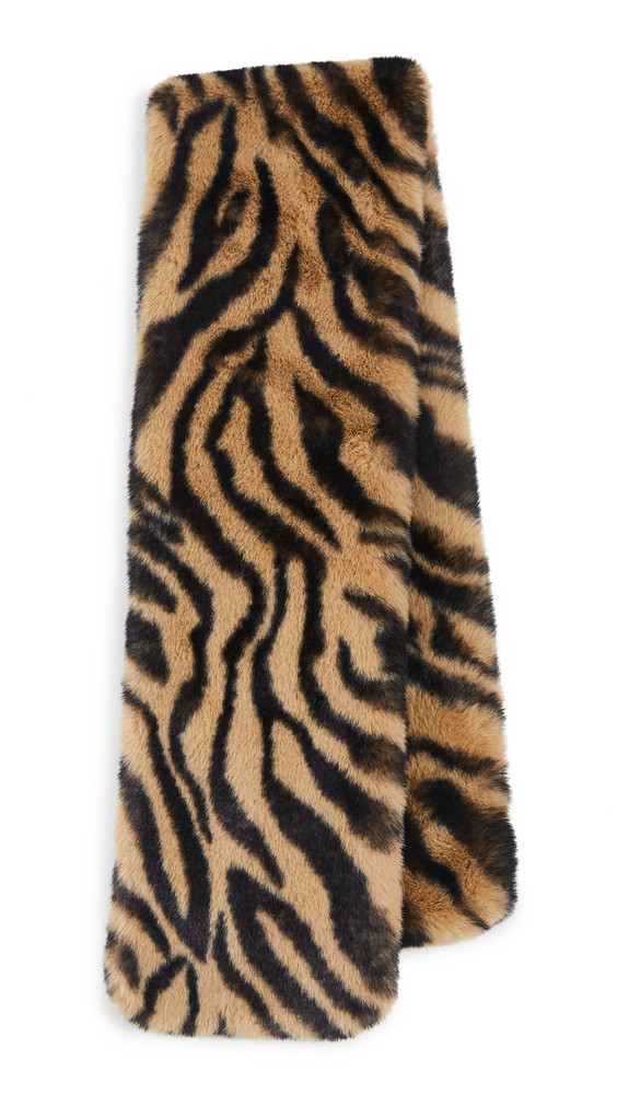 Adrienne Landau Faux Fur Scarf in brown