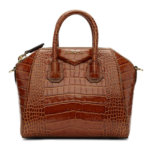 Givenchy Brown Croc Mini Antigona Bag