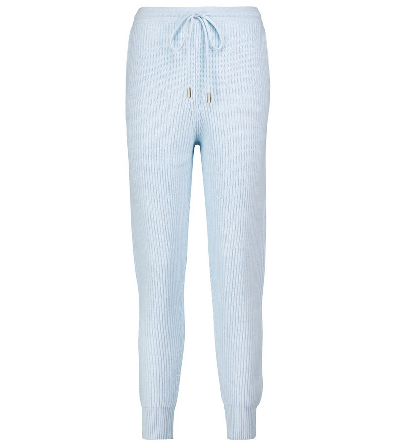 Jonathan Simkhai Nina ribbed-knit sweatpants in blue