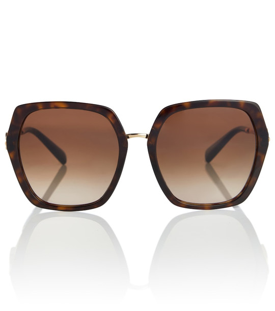 Valentino VLOGO square sunglasses in brown