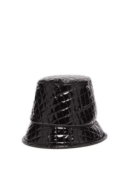 Maison Michel - Souna Quilted Pvc Bucket Hat - Womens - Black