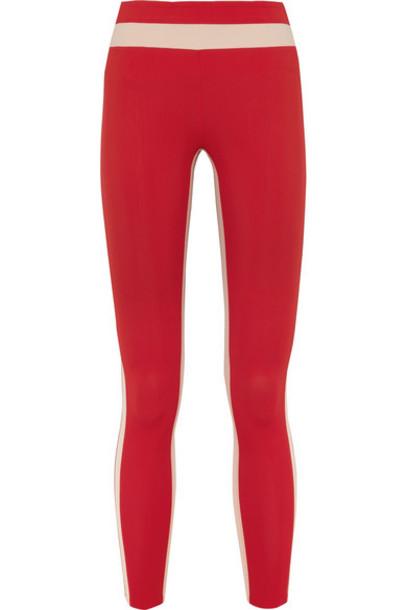 Vaara - Freya Tuxedo Stretch Leggings - Red