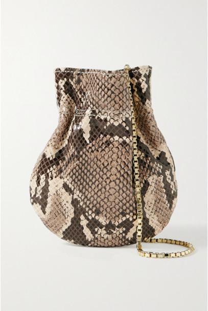 TL-180 - Le Mini Fazzoletto Snake-effect Leather Shoulder Bag - Snake print