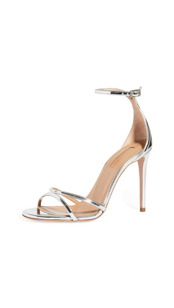 Aquazzura 105mm Purist Sandals in silver