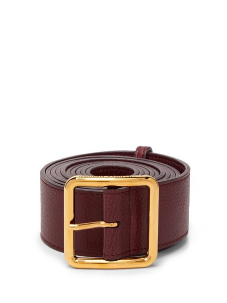 Alexander Mcqueen - Long Leather Waist Belt - Womens - Burgundy