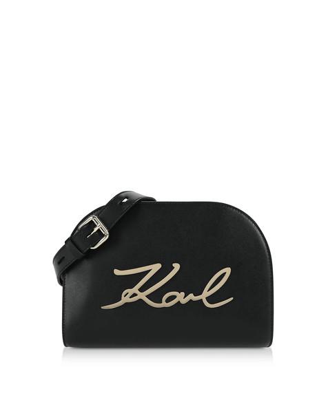 Karl Lagerfeld K/signature Large Crossbody Bag in black / gold
