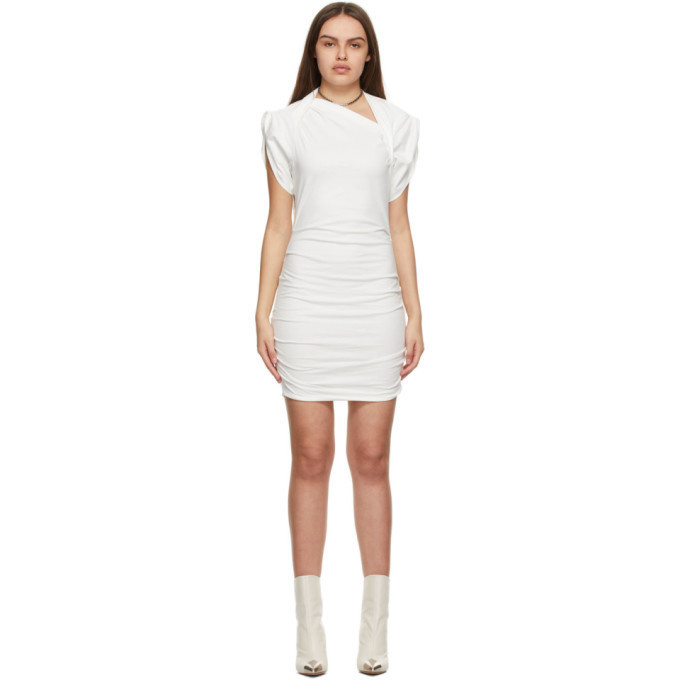 Isabel Marant Off-White Sibara Dress in ecru