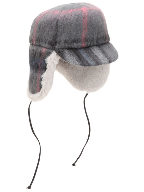 EUGENIA KIM Sammy Wool & Mohair Trapper Hat in grey