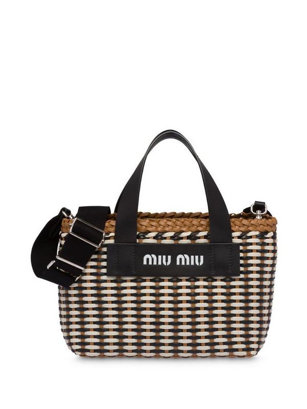 Miu Miu woven tote bag in brown