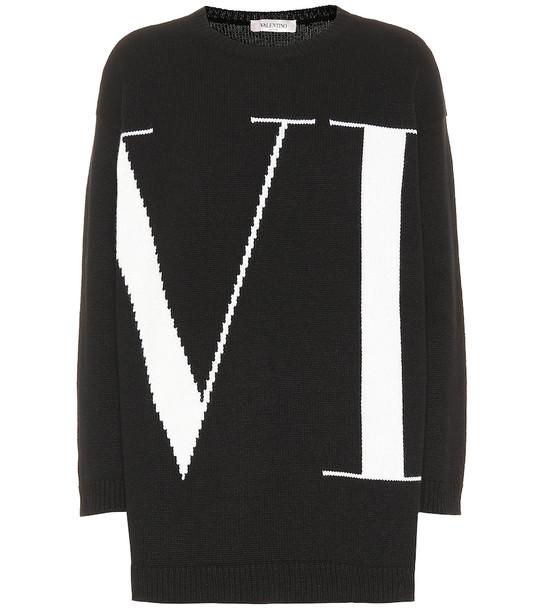 Valentino VLTN cashmere sweater in black