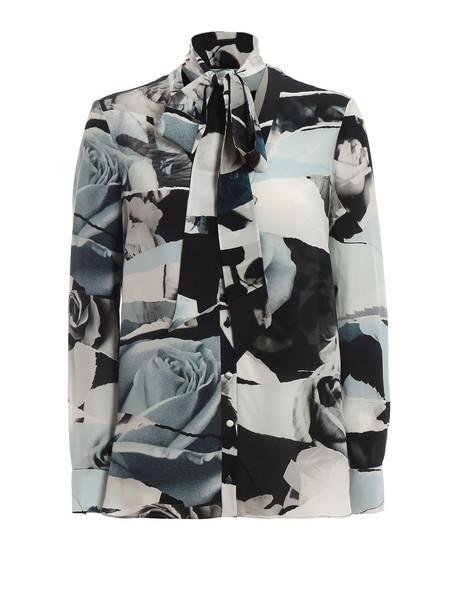Alexander McQueen Shirt in black / blue / ivory
