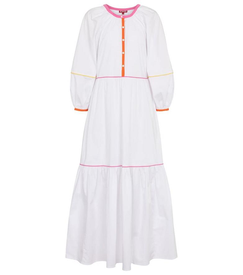 Staud Demi stretch-cotton maxi dress in white
