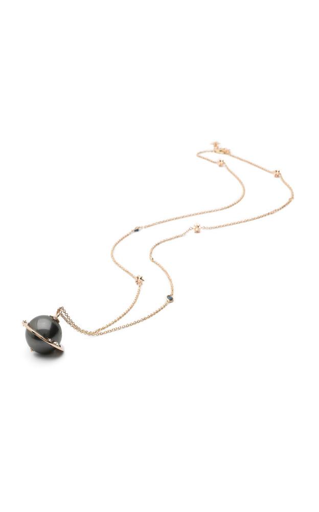 Bibi van der Velden Big Planet 18K Rose Gold And Multi-Stone Necklace in grey
