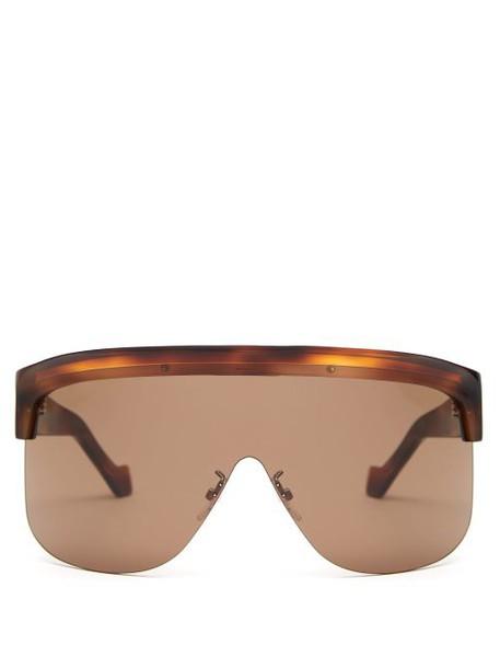 Loewe - Show D Frame Visor Sunglasses - Womens - Tortoiseshell