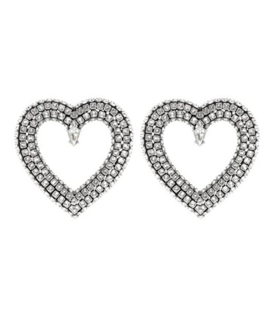 Balenciaga Crystal earrings in silver