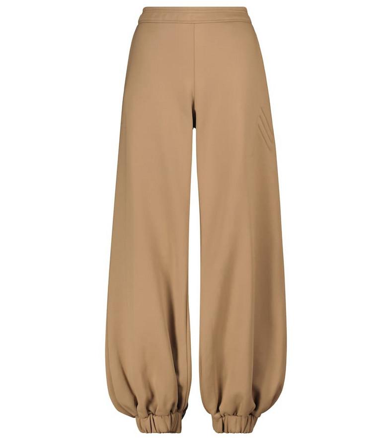 The Attico Carter cotton-blend fleece sweatpants in beige
