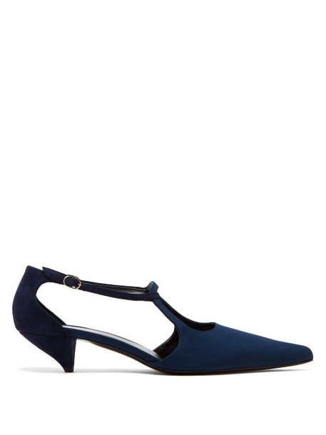 The Row - Bourgeoise Salome Crepe Pumps - Womens - Navy