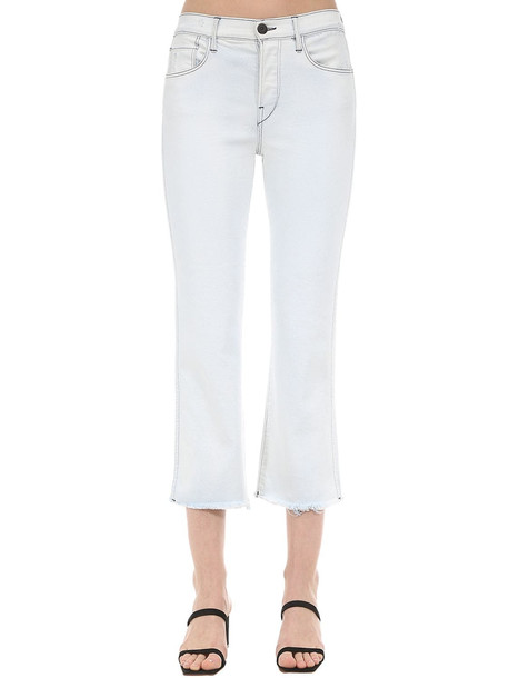 3X1 Austin Cropped Cotton Denim Jeans in white