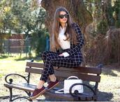 only my fashion style,blogger,bag,shoes,shirt,suit,plaid suit,spring outfits
