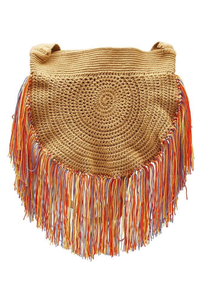 Soraya Hennessy Multi Fringe Boho Crochet Shoulder Bag