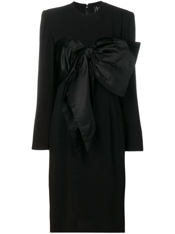 Jean Louis Scherrer Pre-Owned bow detail dress in black