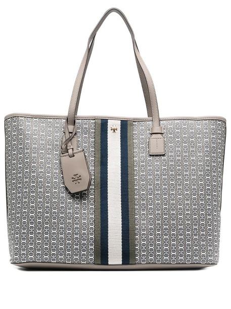 Tory Burch Gemini Link leather tote bag in grey