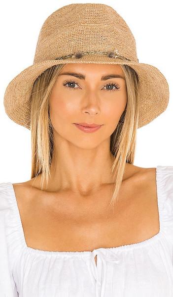 florabella Jonnie Lux Hat in Tan in silver