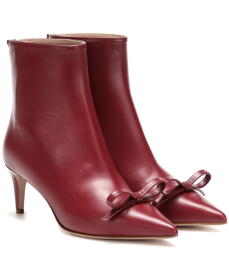 RED (V) RED (V) leather ankle boots