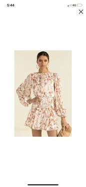 dress,flowy,sleeves,high neck,chiffon dress