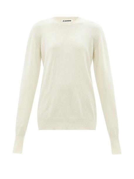 Jil Sander - Crew-neck Cashmere Sweater - Womens - Cream