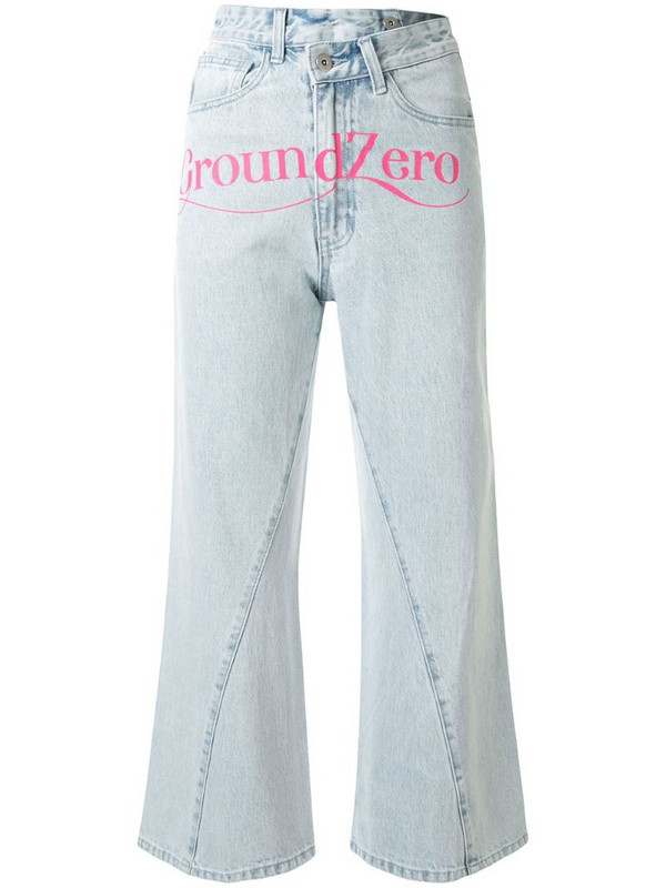 Ground Zero high rise cropped jeans in blue