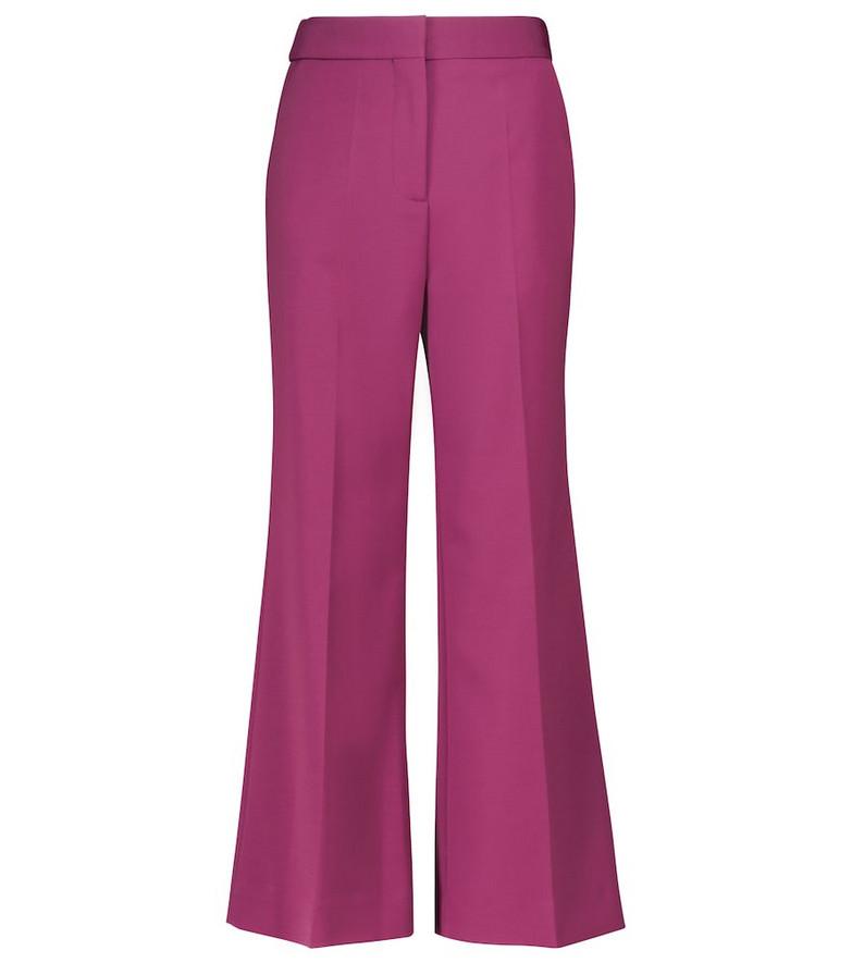 Victoria Victoria Beckham High-rise wide pants in purple