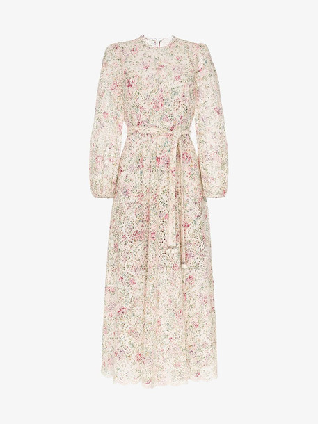 Zimmermann Honour floral belted midi dress