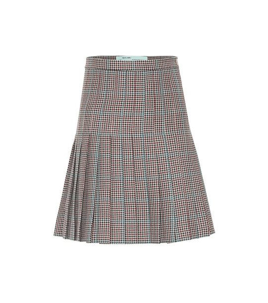 Off-White Pleated wool skirt
