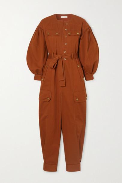 Ulla Johnson - Stearling Belted Cotton-twill Jumpsuit - Orange