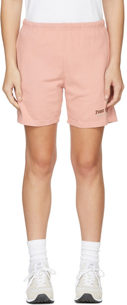 Museum of Peace & Quiet Pink 'Resort & Spa' Shorts