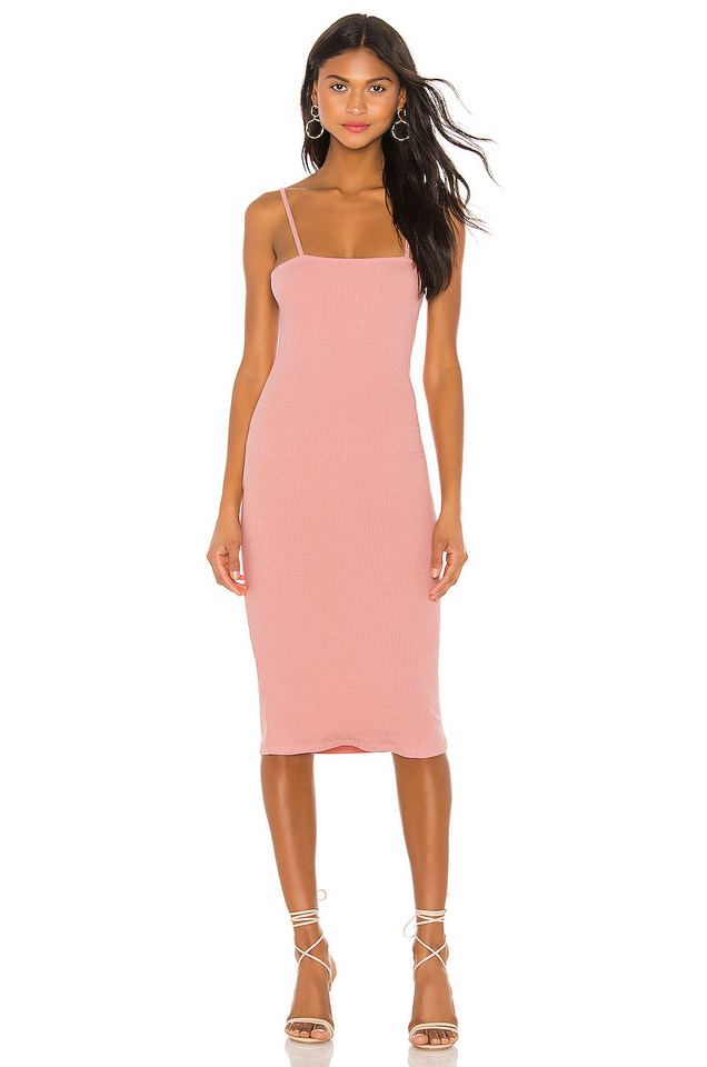 Privacy Please Tess Midi Dress in pink
